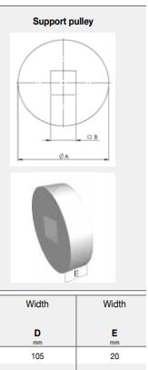 soporte z8 compact drive chiorino d105x20mm